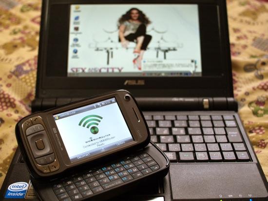 EMONSTER(S11HT)を使ってEeePCをネットに接続