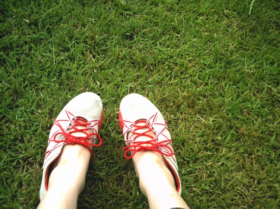 靴を撮る写真も妻は好きなんですよね。