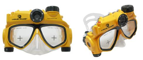 水中マスク一体型のデジタルカメラ「UDCM301」