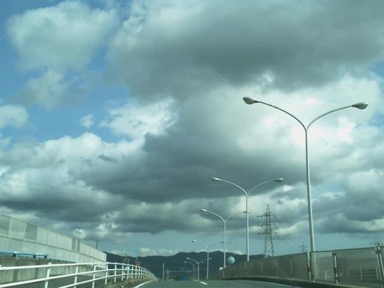 雲がもこもこで