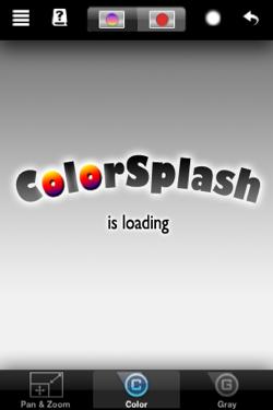ColorSplashってアプリです。