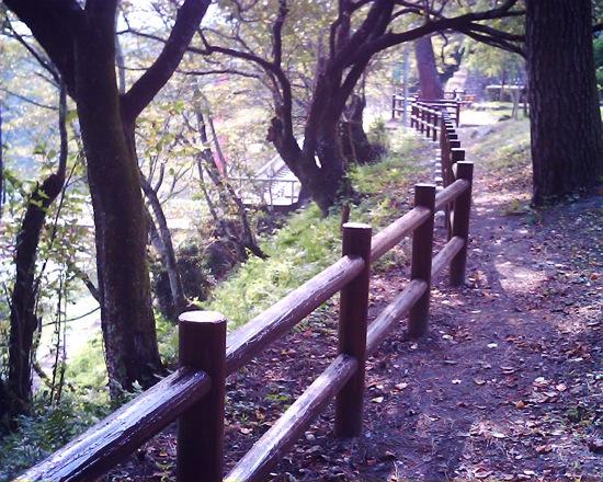 老朽化した柵は、新しい柵に付け替えられました。
