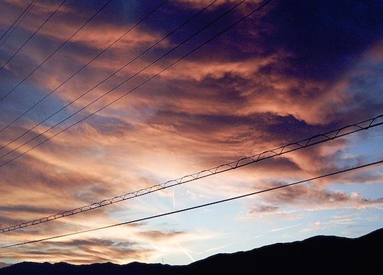 数日前のキレイな夕日