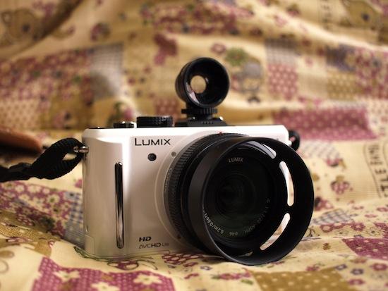 LUMIX GF1にLOMO LC-A+で使ってるWide Angle Lensのファインダー!