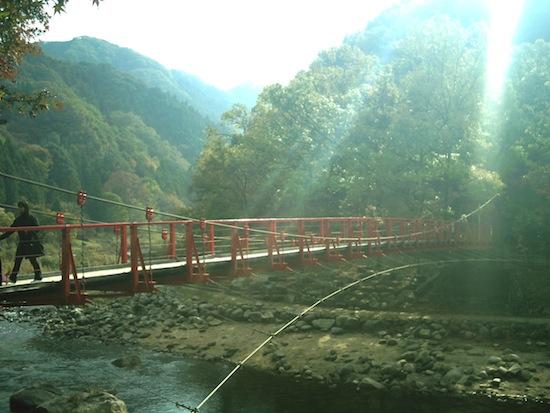 香嵐渓にはいくつか橋があってそれも人気なんです。