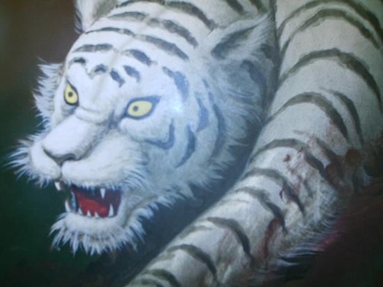 オートでフラッシュが出ちゃった。白虎。