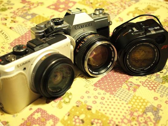 Canon FTbとGF1とレンズ