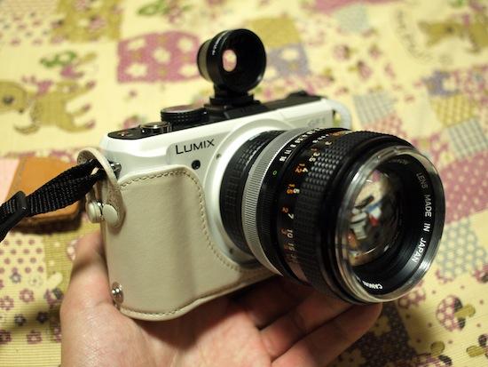 LUMIX DMC-GF1・Canon 50mmF1.4・LC-A+用ワイドアングルレンズのファインダー