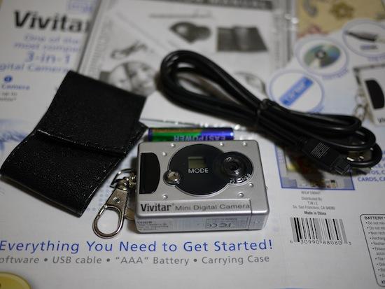 開けるとこんな感じ!本体・ケーブル・電池・説明書・ケース!など!