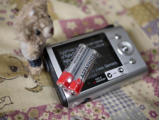付属の単四乾電池もアグフアだった!