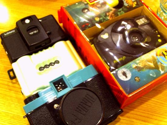 ロモの福袋に入ってたカメラやLC-Aなど