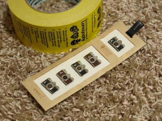 ロモの紙テープとカメラの形したシール