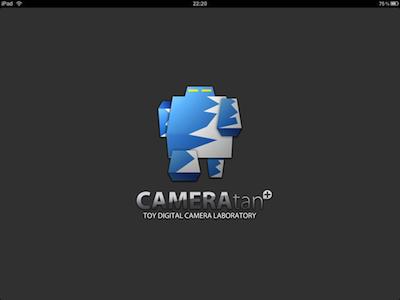CAMERAtan+ (for iPad)の起動画面。