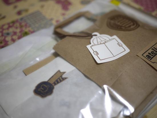 はんこと手紙が入ってた封筒やパッケージも強烈にオシャレ!