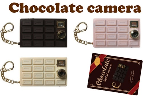 チョコレートカメラ:板チョコ型のデジタルカメラ
