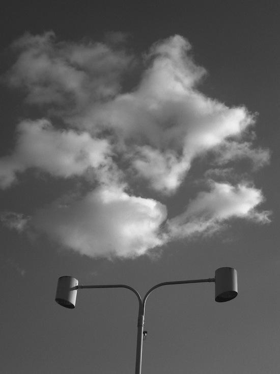 外灯:モノクロ