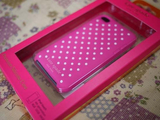 ケイトスペード iPod touchケース ピンクドット【KATE SPADE】