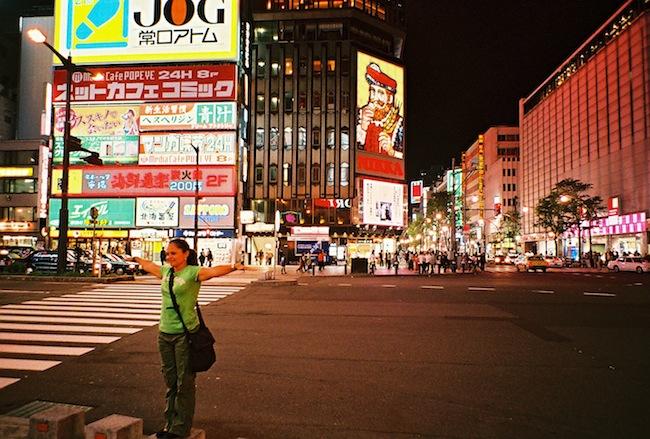 夜の街もばっちり綺麗に撮れました!