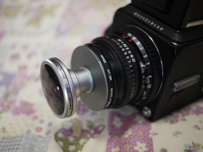 Hasselblad 500C/Mに魚眼レンズ IDF-1を取り付けてみた。