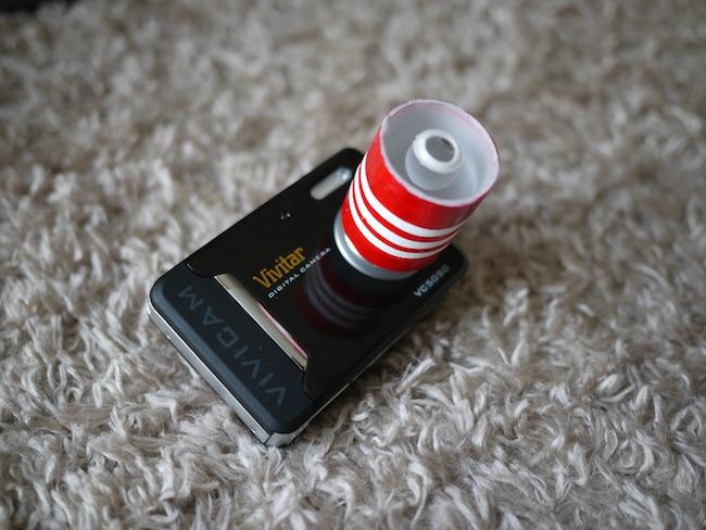 ViviCam5050に付いているのがキイチローさん手作りの「宙玉(そらたま)レンズ」です!