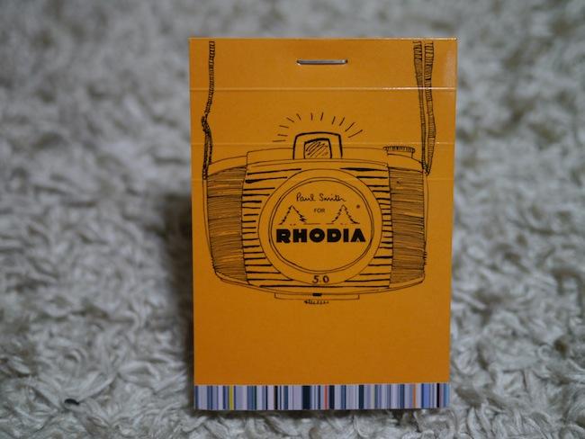 ロディアのカメラ柄メモ帳。ポールスミスコラボ。おしゃれ!
