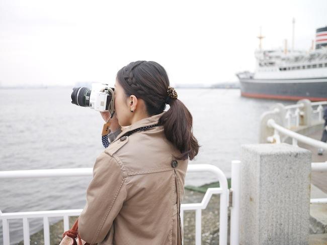 船を撮るツマー