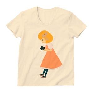 Tシャツ全面には500C/M Girlのイラスト
