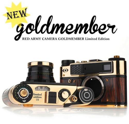 初回限定10台の激レアカメラ!人気の「RED ARMY CAMERA」に新色の「GOLDMEMBER」登場!