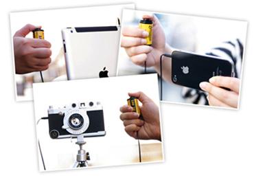 これ!iPhoneなどで使えるリモートシャッターなんです!