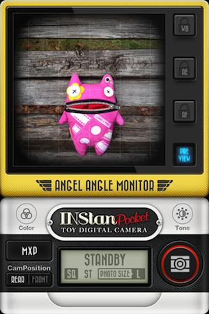 まずはINStanPocketで一枚目の写真を撮ります。