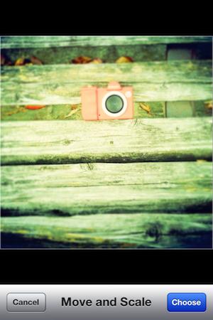 そして多重露光したいカメラだけの写真を選びます。