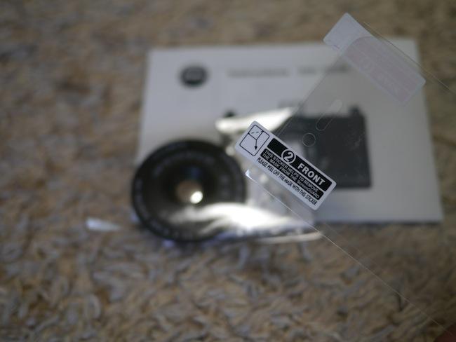 付属品に「液晶保護フィルム」が付いてました!